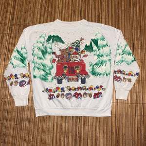 M - Christmas All Over Print Sweater