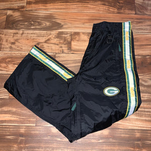 L/XL - Vintage Green Bay Packers Windbreaker Pants