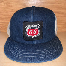 Load image into Gallery viewer, Vintage Phillips 66 Denim Trucker K Products Hat