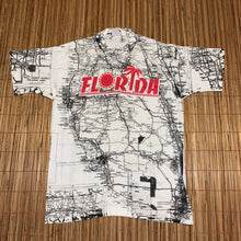 Load image into Gallery viewer, L - Vintage All Over Print Florida Map Shirt