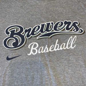 L - Milwaukee Brewers Baseball Nike Shirt
