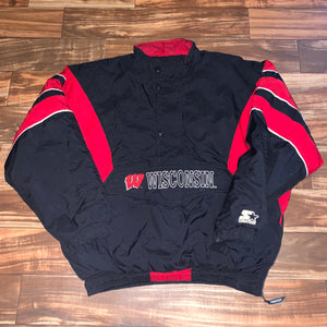 2XL - Vintage Wisconsin Badgers Classic Starter Jacket