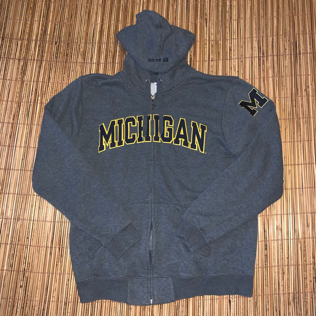 L - Michigan Embroidered Champion Hoodie