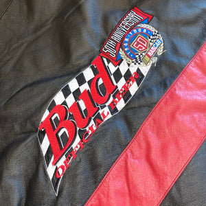 XXL - Vintage Budweiser Pro Player Leather Jacket