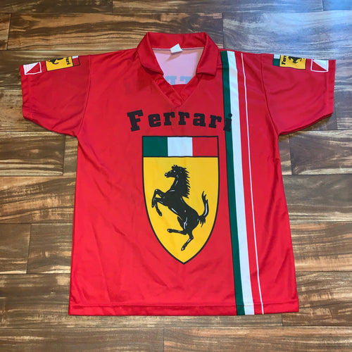 L/XL - Vintage Ferrari Made In Italy Jersey Shirt