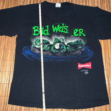 Load image into Gallery viewer, XL/L(Fits L-See Measurements) - Vintage 1995 Budweiser Frogs 2-Sided Shirt