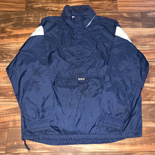 XXL - Vintage 90s Nike Center Swoosh 1/2 Zip Windbreaker