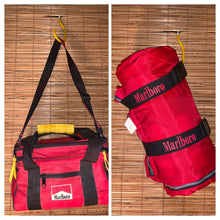 Load image into Gallery viewer, Vintage Marlboro Lunch Box + Sleeping Bag Bundle