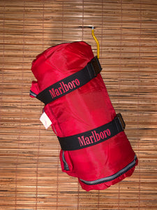 Vintage Marlboro Lunch Box + Sleeping Bag Bundle
