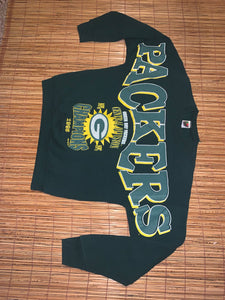 XL - Vintage 1995 Packers Chest Spellout Sweater