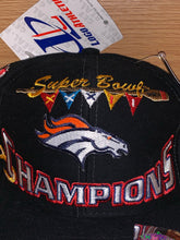 Load image into Gallery viewer, Vintage 1998 Denver Broncos Super Bowl XXXII Champions Official Locker Room Hat