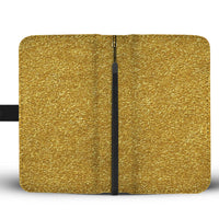 Gold tone phone wallet 2