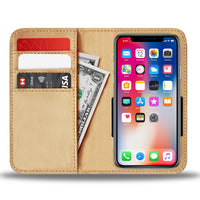 Gold tone phone wallet 4