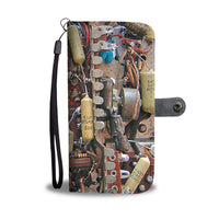 Old Vintage Circuit Board Phone Wallet for Men and Women