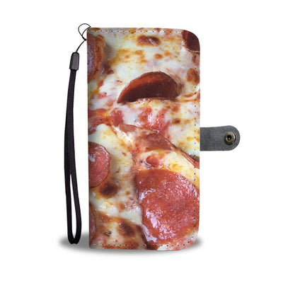 pepperoni and cheese cell phone wallet