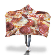 hooded pizza blanket