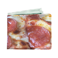 men's wallet pepperoni and cheese pizza