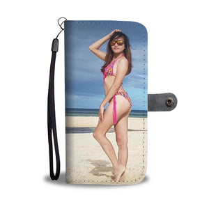 Sexy Filipino girl cell phone wallet