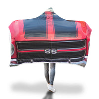 super sport stripes hooded blanket