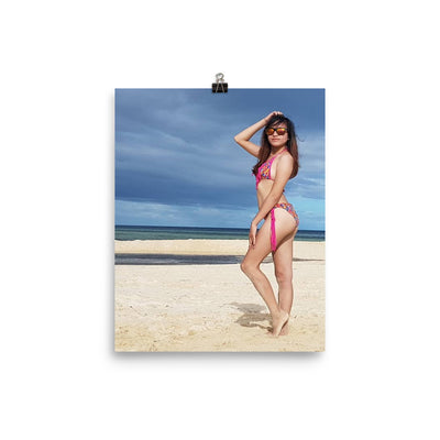 Filipino girl in bathing suit poster