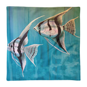 Freshwater Fish Tropical Fish Angelfish with blue background Basic Pillow Case only