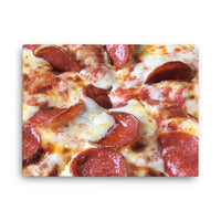 pizza on canvas