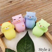Mini Change Color Squishy Cute Cat Antistress Ball Squeeze Mochi Rising Stress Relief Funny Gift Decompression Toy Dropship