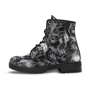 Skull Ghost Leather Boots