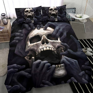 3D Dark Skull Bedding Set