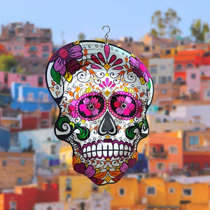 Mexican Skull Wind Spinners