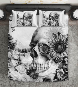 Sunflower Skull Bedding Set
