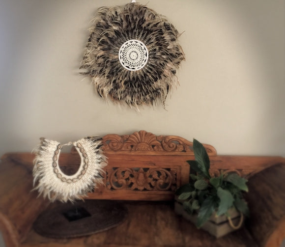 Feather and Shell Decor