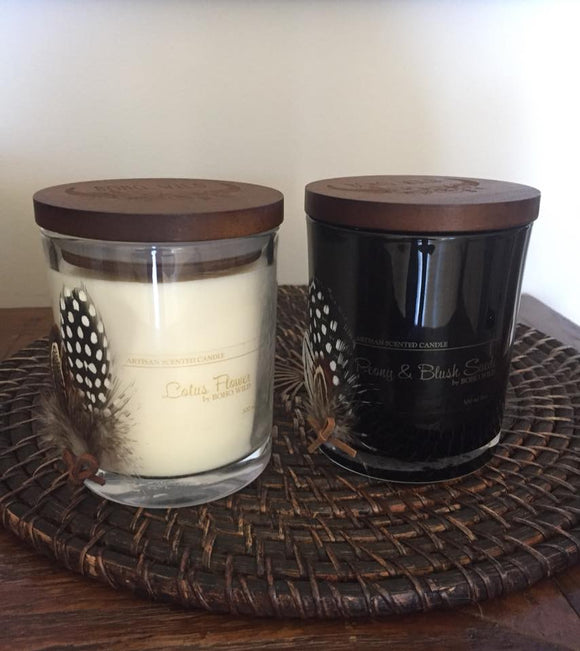 Artisan Scented Soy Candle | Clear Glass Tumbler