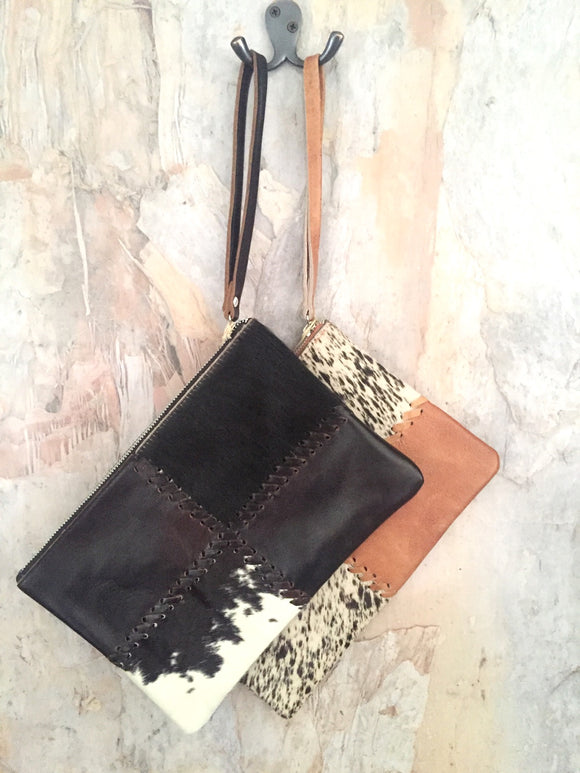 Cow Hide Medium Clutch | Different colours to choose from