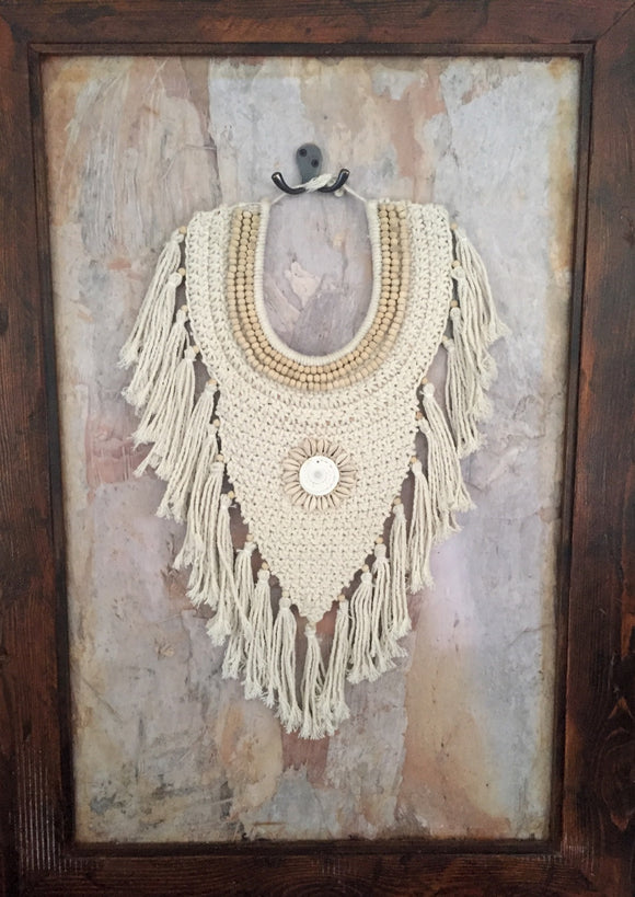 Boho Luxe Macrame Wall Necklace