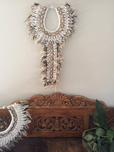 Boho Feather and Shell Tribal Necklace