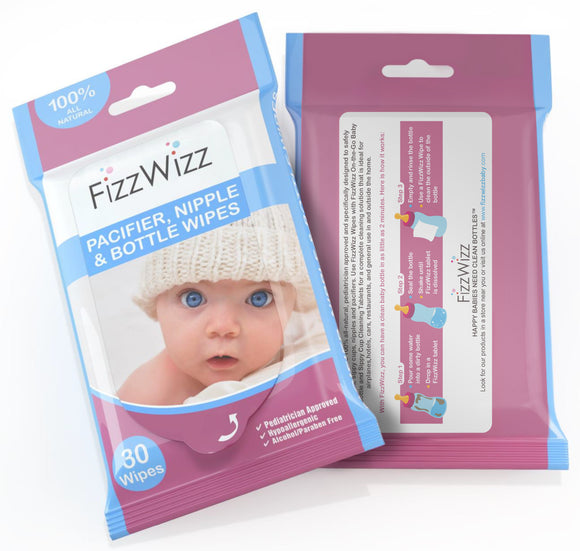 FizzWizz Pacifier, Bottle and Nipple Wipes