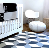 Play With Pieces - Grey Geo/Stripes Playmat