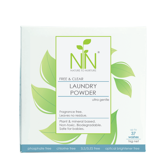 Nature To Nurture Free & Clear Laundry Powder Ultra Gentle 1kg
