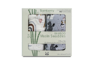 Bamberry Muslin Swaddles