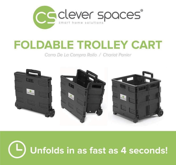 Clever Spaces Foldable Utility Trolley Cart