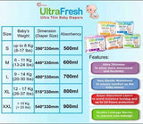 Ultra Fresh Ultra Thin Diapers Pack of 30