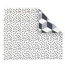 Play With Pieces - Grey Geo/Polka Dots Playmat