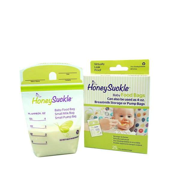 Honeysuckle Small Breastmilk Bags 4-oz (25 pcs)