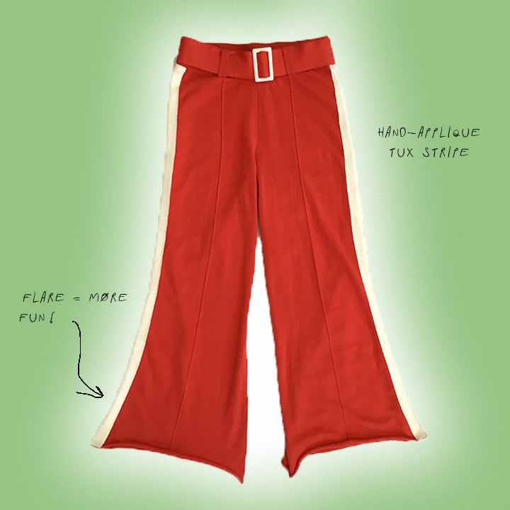 Flare and Flex Knit Pants