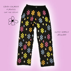 Flower Shower Knit Sweats
