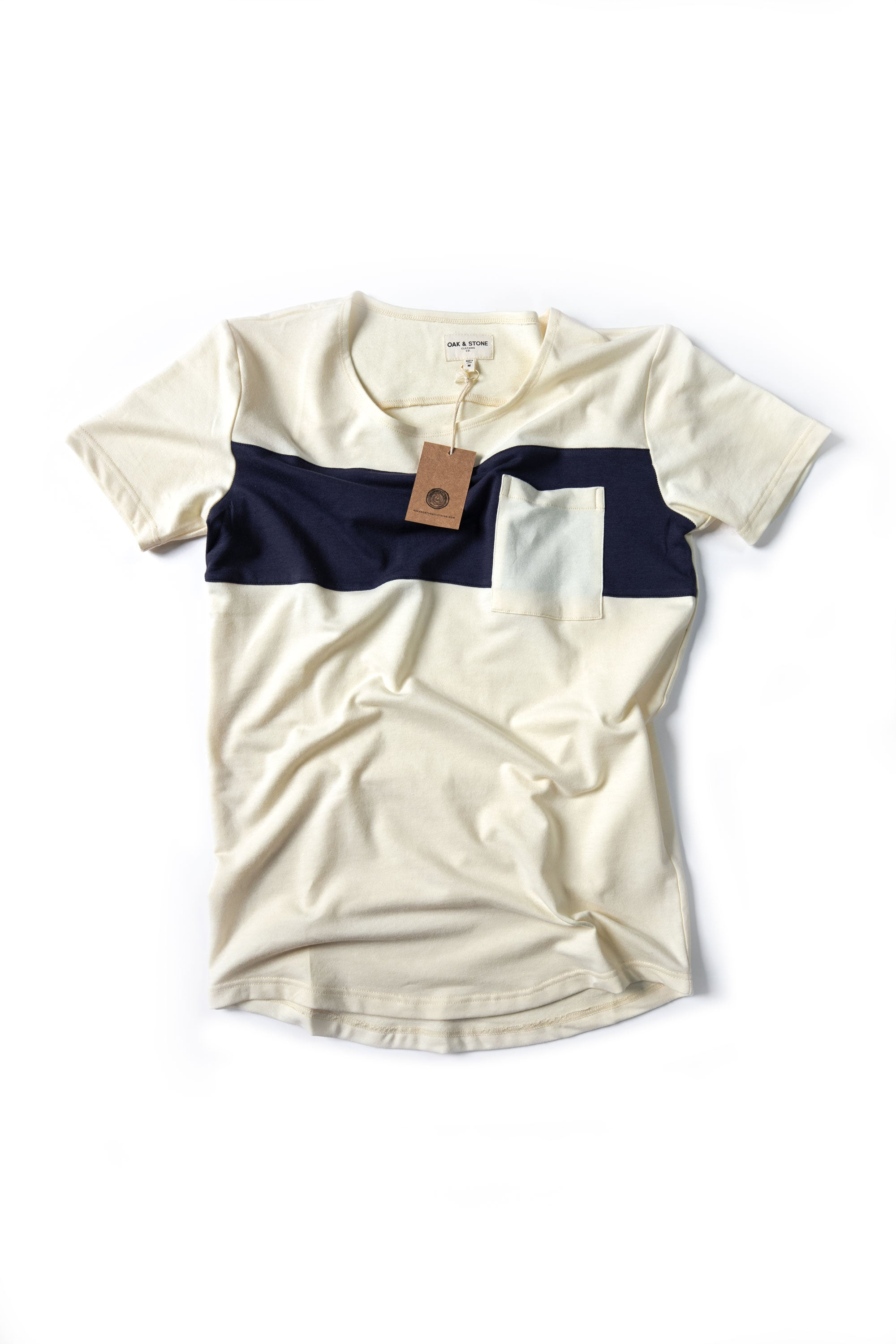 Bar Pocket Tee - Ivory - Oak & Stone Clothing Co.