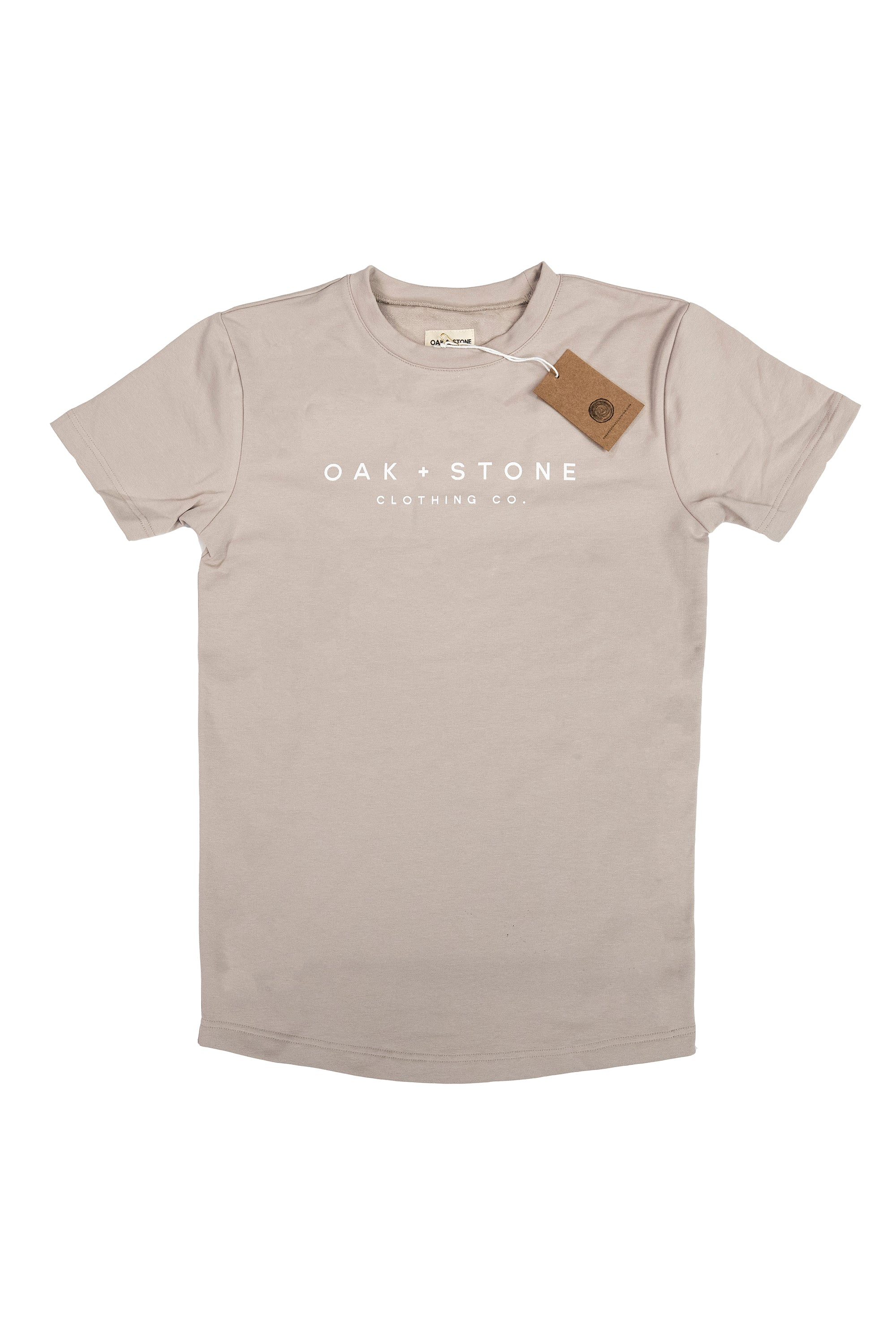 The Graphic Tee l Oak + Stone Clothing Co. l Tan