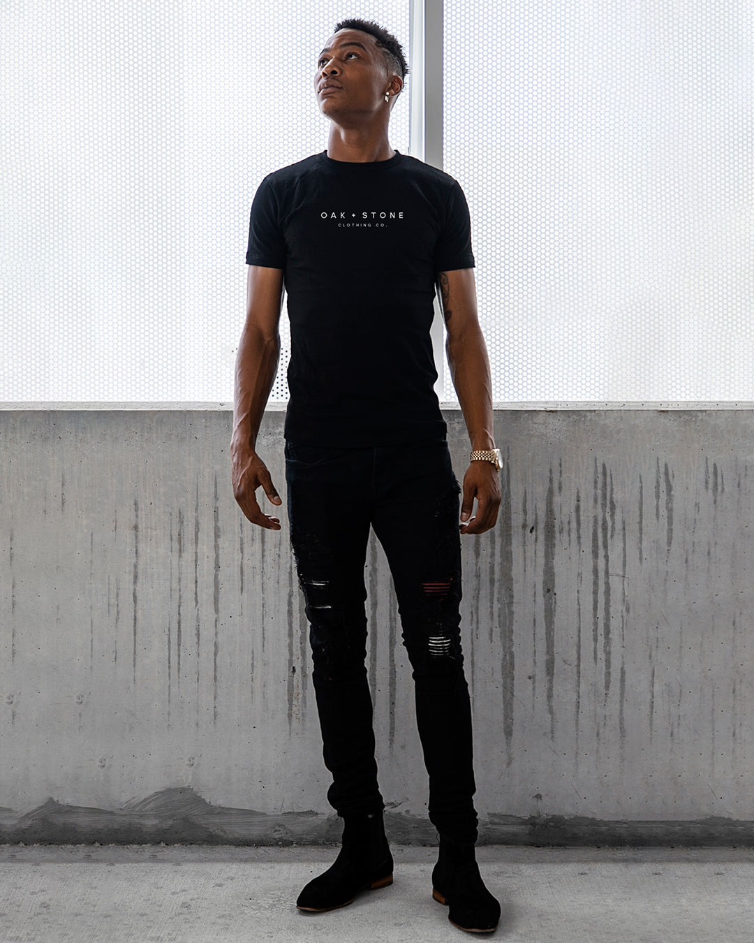 The Graphic Tee l Oak + Stone Clothing Co. l Black