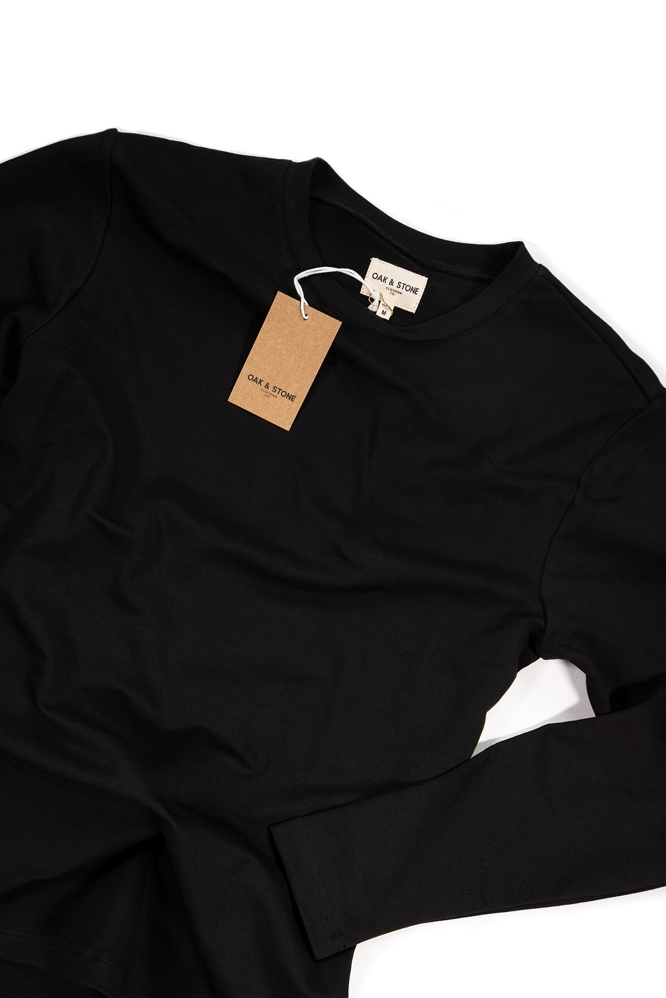 The Classic L/S Tee - Black - Oak & Stone Clothing Co.